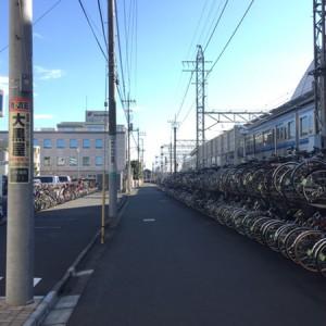 駐輪場の道